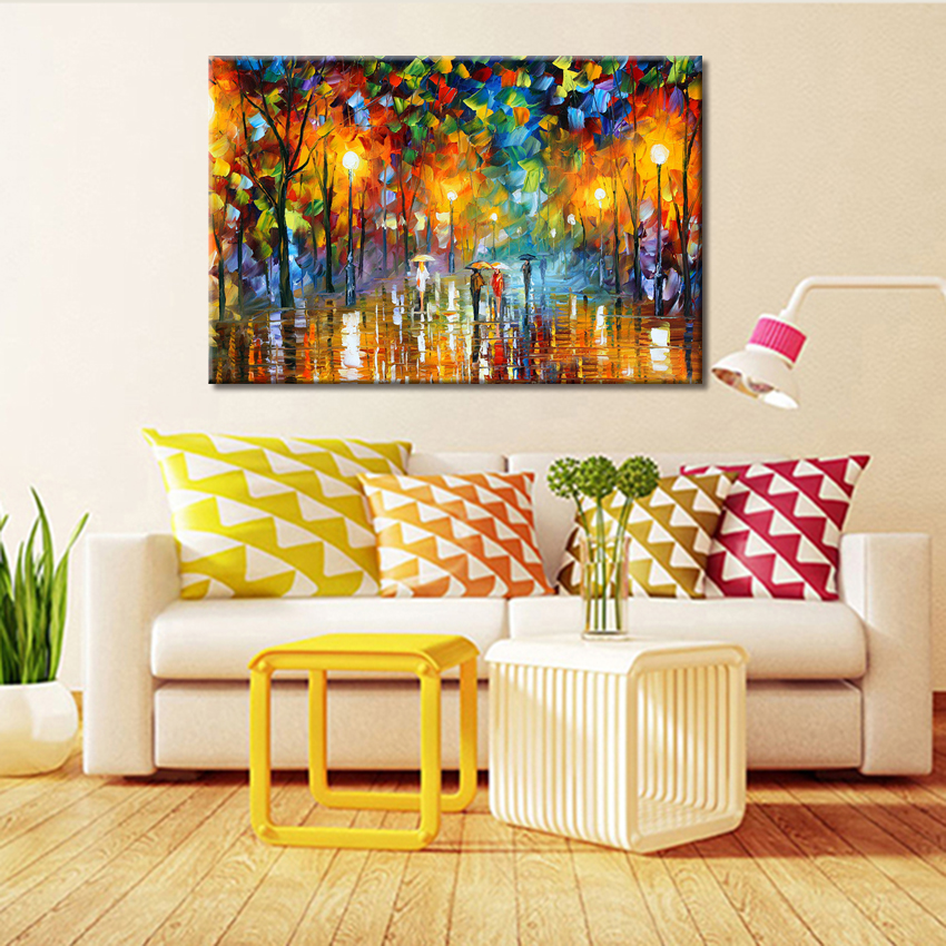 Large Oil Paintings Hand Painted on the Wall Landscape Art Pictures ...