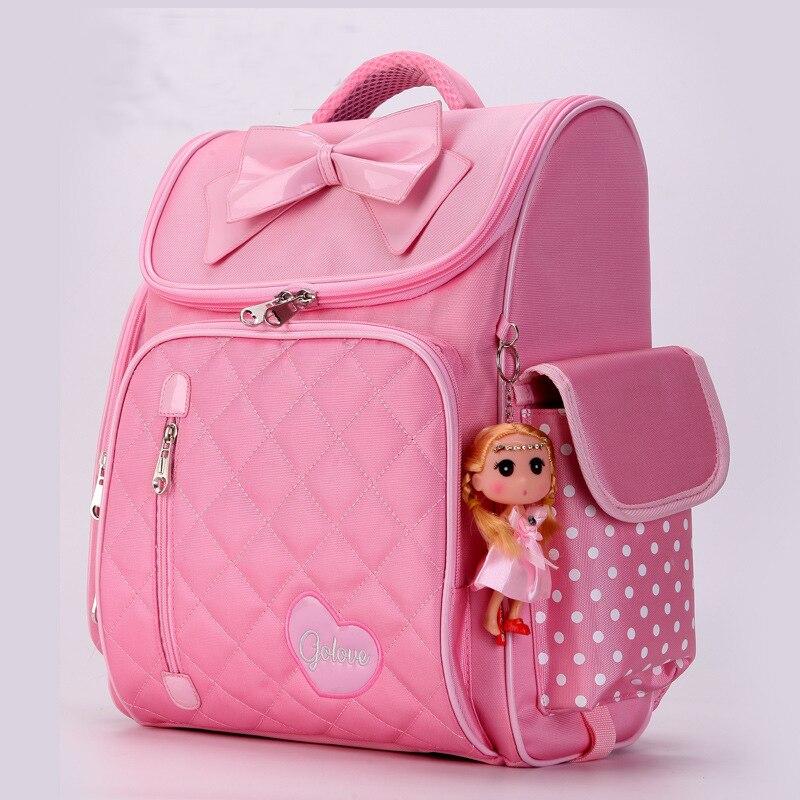 48a12193d085 Купить Новые ортопедические принцессы для девочек Школьный рюкзак  Водонепроницаемый Начальная Школа сумки дети студент девочек ранец дети  Mochila .