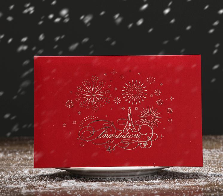 (100 piece/lot)LEISO Brand 3D Laser Cut Handmade Flower Heart Eiffel Tower Invitation Card Wedding Valentine's Day Creative Gift