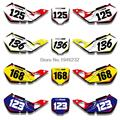 For HONDA CR125 1998 1999 CR250 1997 1998 1999 Custom Number Plate Backgrounds Graphics Sticker & Decals Kit