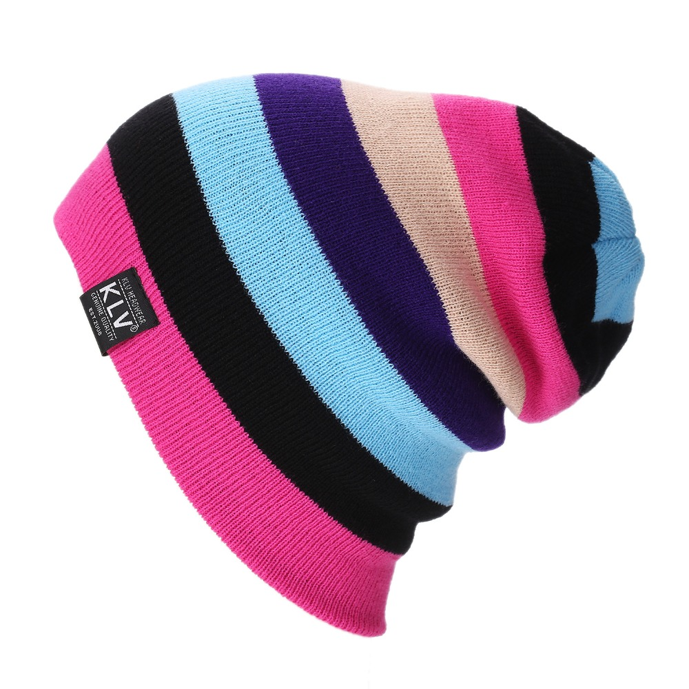 be80b71649c 2017 Brand Bonnet Beanies Knitted Winter Caps Skullies Winter Hats For Women  Outdoor Ski Sports rainbow Beanie Gorras Touca-in Skullies   Beanies from  ...
