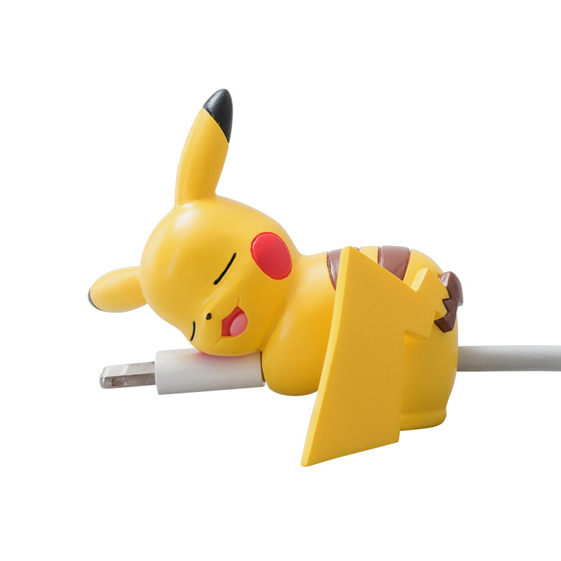 1pc Mini Cute Pikachu Eevee Meowth Cable Bite Animal Cable Protector For IPhone Android Toys Yellow Little Pet Shop Toys For Kid