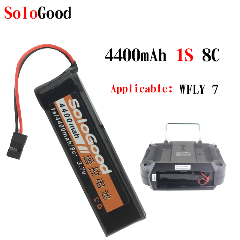 SoloGood <font><b>Battery</b></font> <font><b>4400mAh</b></font> 1S 8C <font><b>3.7V</b></font> Remote Control Lipo <font><b>Battery</b></font> for WFLY 7 image
