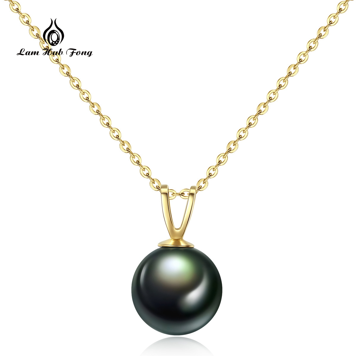 Pearl Jewelry 18K Yellow Gold Chain Natural Black Tahitian/ South Sea Pearl Pendant Necklace Fine Jewelry Valentine's Day Gift yoursfs 18k rose white gold plated letter best mum heart necklace chain best mother s day gift