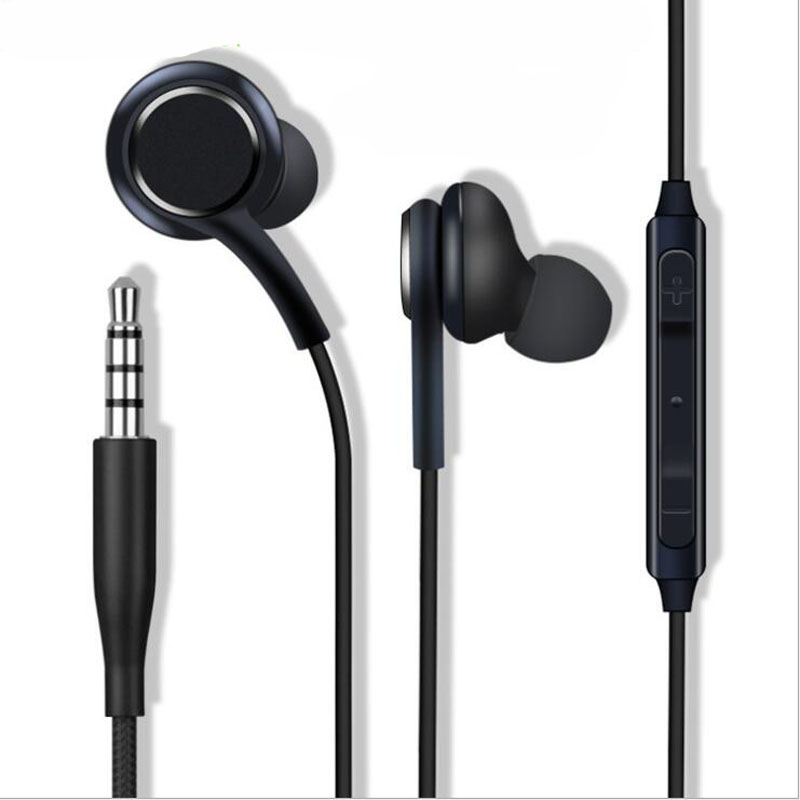 3.5mm Stereo Headset Earphone Microphone For Samsung Galaxy S10 S9 S8 Plus S7 S6 Edge Note 9 8 7 Handfree Headphone Bass Earbuds