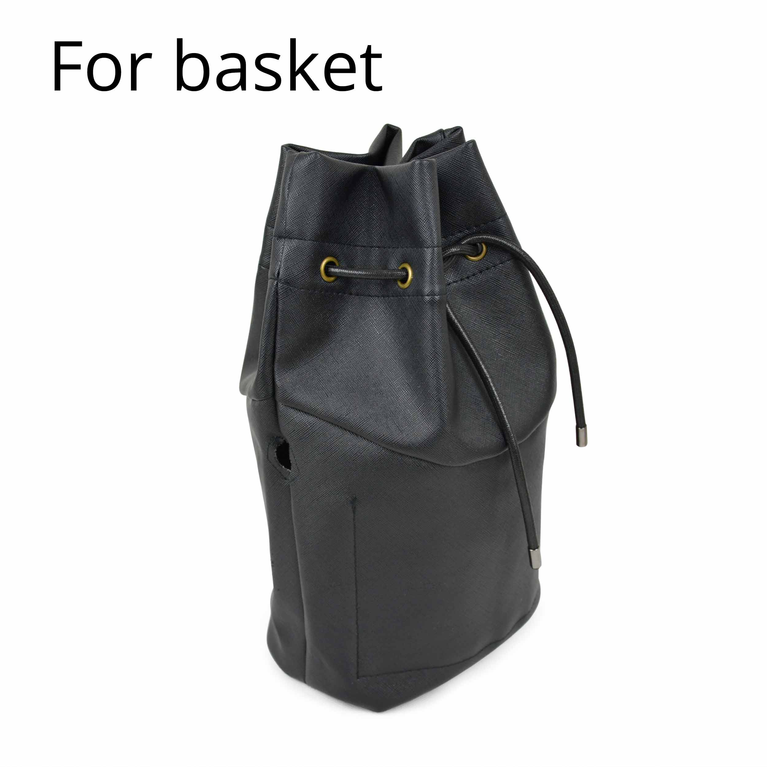 Drawstring PU Leather Inner Pocket Lining For Obasket Obag Handbag Insert For O Basket O Bag Accessories