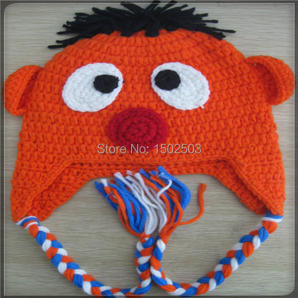 Custom kids animal knit hat handmade cute crochet animal hat pattern ...