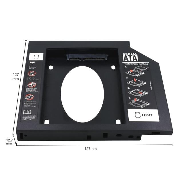 """TISHRIC de plástico HDD Caddy/9,5/12,7mm SATA 3,0 Optibay 2,5 """"SSD DVD Controlador de disco duro CD-ROM carcasa adaptadora carcasa"""