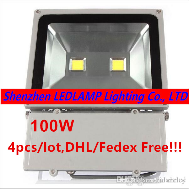 4X Ultra Bright Led Flood light 100W AC85-265V Waterproof IP65 Floodlight Spotlight Outdoor Lighting 25% off 2017 modern style ultrathin led flood light 30w 50w ac85 265v waterproof ip65 floodlight spotlight outdoor lighting