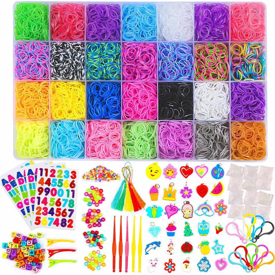 Rainbow Rubber Bands Refill Kits Rubber Bands for bracelets more ✅ 19000