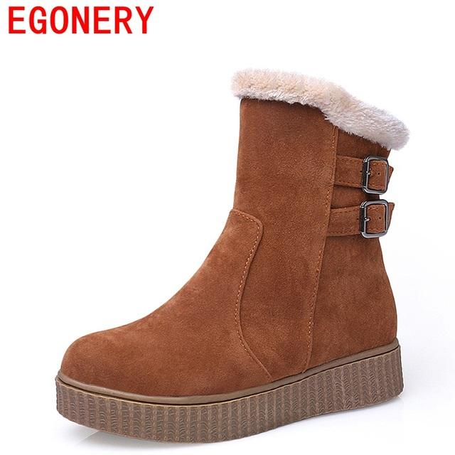 Egonery 2017 cinturón de hebilla de metal decorativa de europa y américa estilo de la universidad de simple y confort con estilo botas de mujer