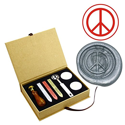Anti guerre Signe de Paix Timbres de Joint De Cire Kit Personnalisé invitation De Mariage Enveloppe Timbre et Cire dans Timbres de Bureau et des Fournitures Scolaires