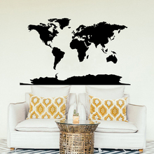World Map Vinyl Wall Sticker Home Decor Whole Decal Removable Wallpaper Design Art Mural AY1372