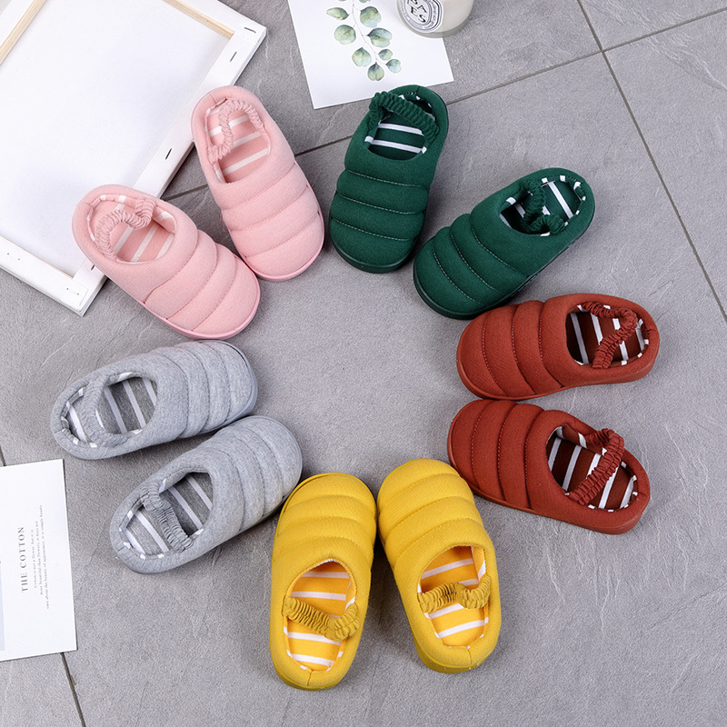 2019 Cute Caterpillar Multi-style Soft Anti-slip Slippers Boys Girls Cotton Indoor Children Shoes Kids Baby Hot Slippers