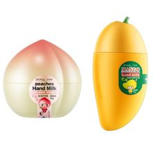Fruit Shape Mango Peach Banana Hand Cream Moisturizing Nourishing Anti-drying Wi