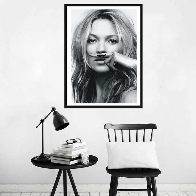 placeholder Famous Celebrity Supermodel Cuadros Kate Moss,Sexy lips life is  a joke For Lijst IN