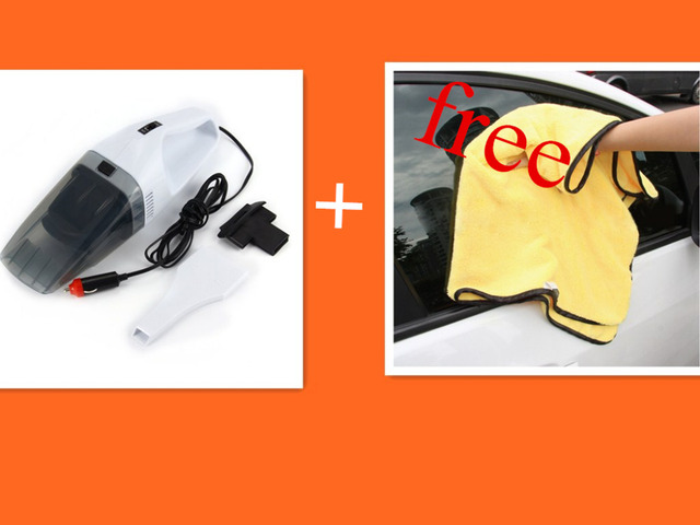 Portable Car Vacuum Cleaner Wet And Dry Dual-use Auto Vacuum Cleaner Super Suction 12V Free Shipping