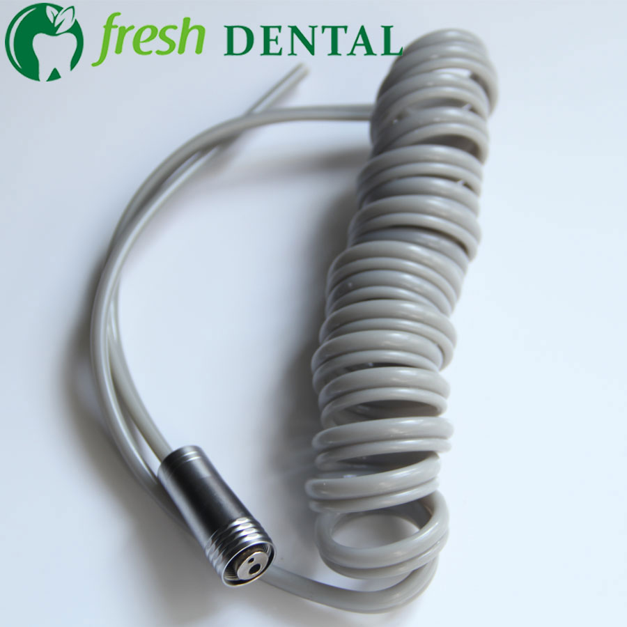 5PCS Dental 2 Holes High Speed handpiece Spiral type Hose Tubing With Connector Dental Chair Unit