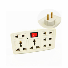 Independent switch Germany socket Splitter 3 jacks way outlet extend plug UK/US/EU/AU to converter hot sell