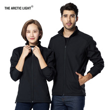 THE ARCTIC LIGHT Men Women Autumn Stylish Softshell Jacket Fleece Inside Couples Winter Solid Color Windproof Hiking Coat