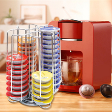 1 Pc 52 Cups Rotatable Tassimo Capsule Holder For Coffee Storage Kitchen Storage Racks High Quality Organizador Shelf H5125F