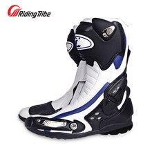 Bottes de Moto de vitesse pour motard, chaussures de course, équitation tribal, bottes de Motocross bato, nouvelle collection