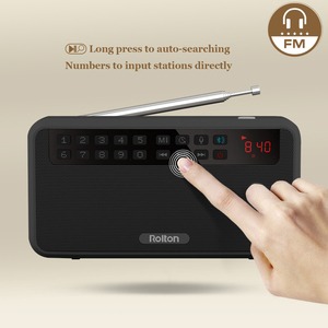 Image 4 - Rolton E500 Tragbare Stereo Bluetooth Lautsprecher FM Radio Bass Dual Lautsprecher TF Karte USB Musik Player (Schwarz)