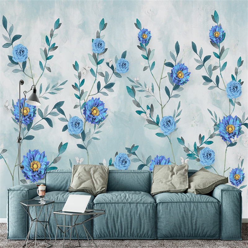 custom 3d photo high quality non-woven wallpapers Nordic modern hand-painted watercolor flowers peony mural background wall 3d wall paper mural with any size hand painted balloon lovely cartoon bedroom 3d mural wallpapers for children non woven mural
