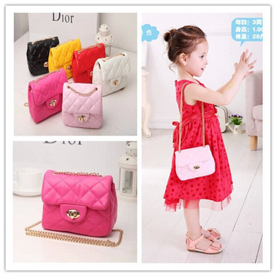 New Korea Style Fashion Handbag Cute Kids Children Fashion Brand Princess Party Crossbody Bag With Gold Chain For Baby Girls new korea style fashion handbag cute kids children fashion brand princess party crossbody bag with gold chain for baby girls
