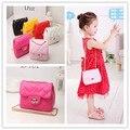 New Korea Style Fashion Handbag Cute Kids Children Fashion BrandPrincess Party Crossbody Bag With Gold Chain For Baby Girls