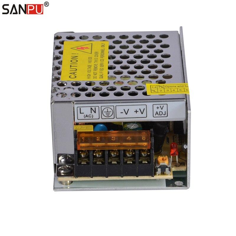 SMPS SANPU 35w 5v LED Power Supply 7A CV LED Driver Metal 5VDC AC DC ...