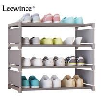 Leewince armario de zapatos sencillo de 50cm de altura, montaje multicapa de herrajes para calzado, a prueba de polvo