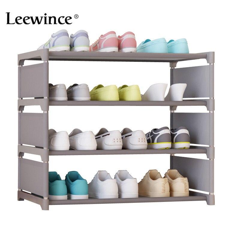 Leewince simples armários de sapato ironwork conjunto multi-camada de cremalheira de sapato com armário de sapato dustproof simples moderno 50cm altura