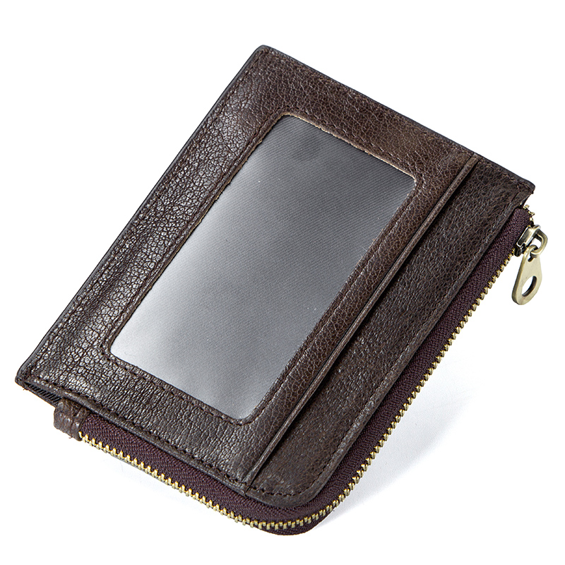 CONTACT'S genuine leather credit card holder Rfid vintage male coin pocket purse mini wallet porte carte business card holders 2