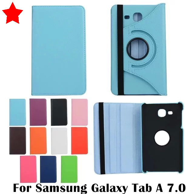 360 degree rotating Litchi Pattern PU Leather Case For Samsung Galaxy Tab A 7.0 inch SM-T280N T280 T285 SM-T285 7  Tablet Cases аксессуар чехол samsung galaxy tab a 7 sm t285 sm t280 it baggage мультистенд black itssgta74 1