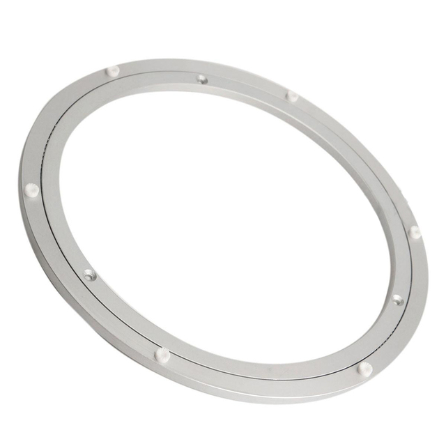 Aluminium Rotating Turntable Bearing Swivel Plate 12 Inch Silver