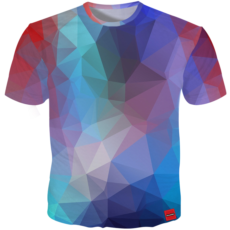 b3dbdec22c8 Cloudstyle 3D T-shirt Men Colorblock Diamond Cubes 3D Print Short Sleeve  Fashion Summer Tops Streetwear Tee Shirts Plus Size 5XL