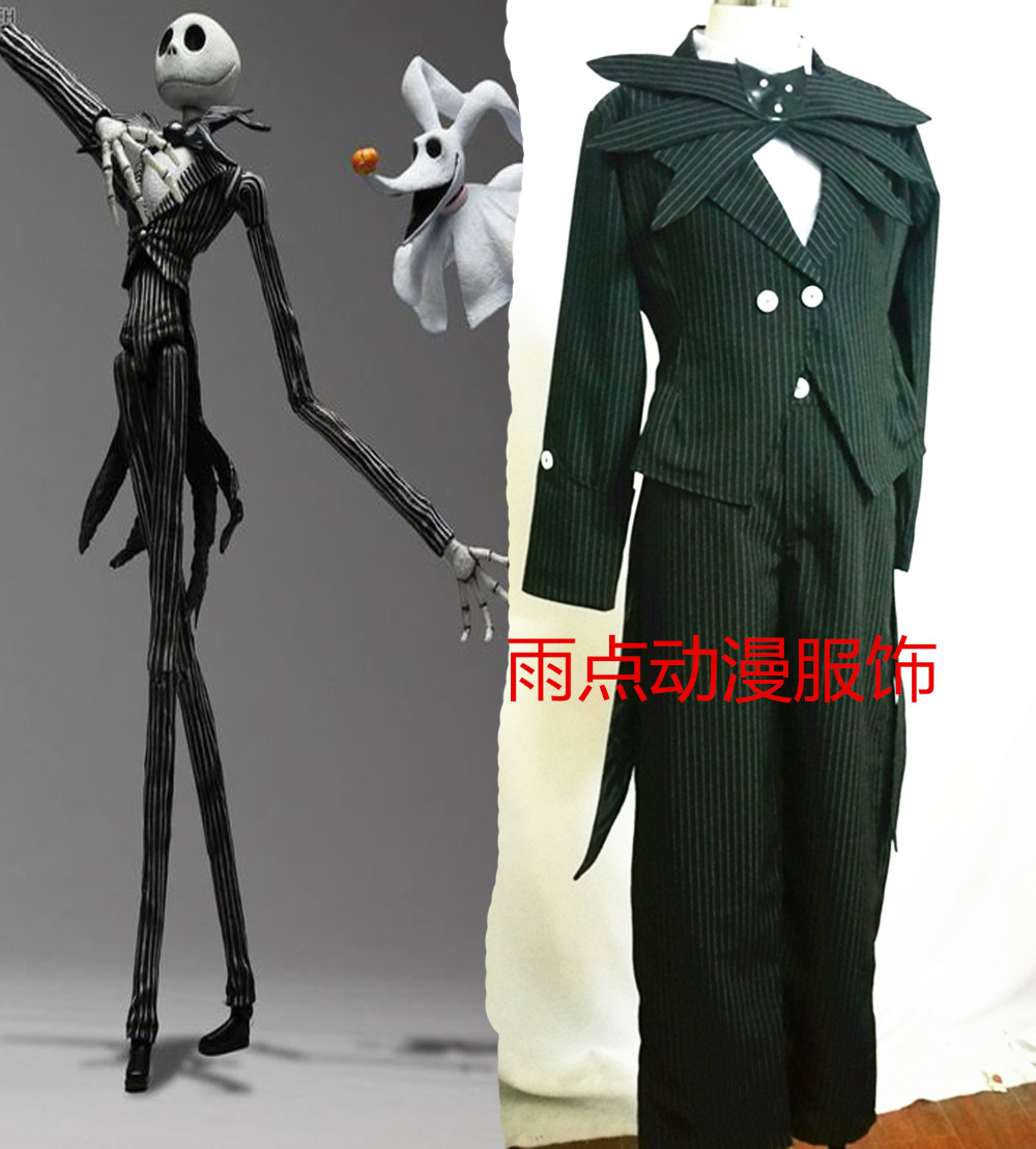 The Nightmare Before Christmas Jack Skellington Anime Cosplay Costume