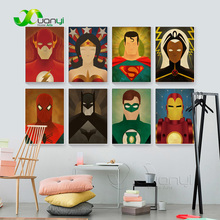 Nordic Poster Cartoon Super Hero Canvas Prints Pop Movie Art Abstract Oil Painting Home Decoration Wall Pictures Unframed