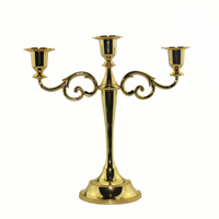 3 Arm Metel Candle Holder Candelabra Candle Stick Stand 27cm Tall Silver Gold Black Bronze
