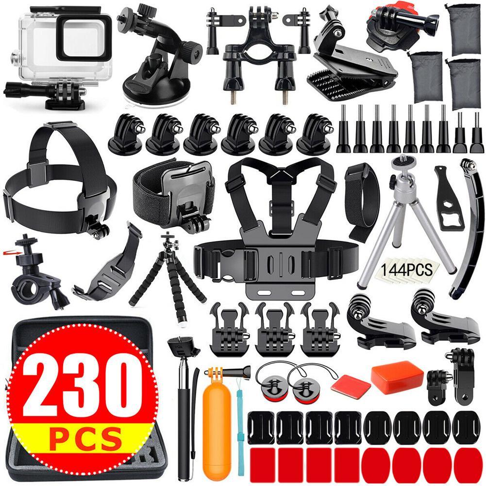 Kit d'accessoires pour caméra d'action pour GoPro Hero 7 6 5 4 3plus 3 2 1 Hero Session 5 ensemble d'accessoires noir accessoire caméra d'action Accesso