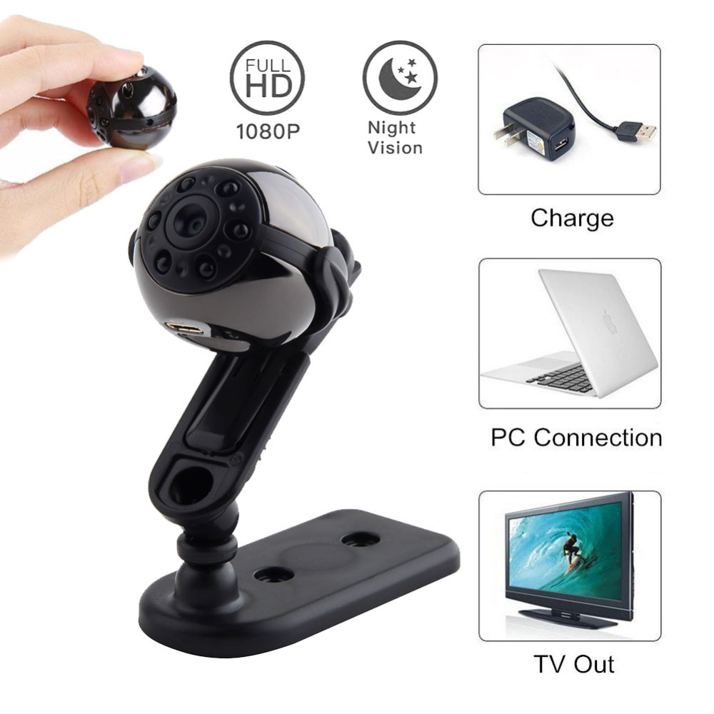 1080P 720P HD 360 Degree Rotation SQ9 Mini DV Camera Sport Camcorder Night Vision Nanny Video Audio Recorder Secret Micro Cam image