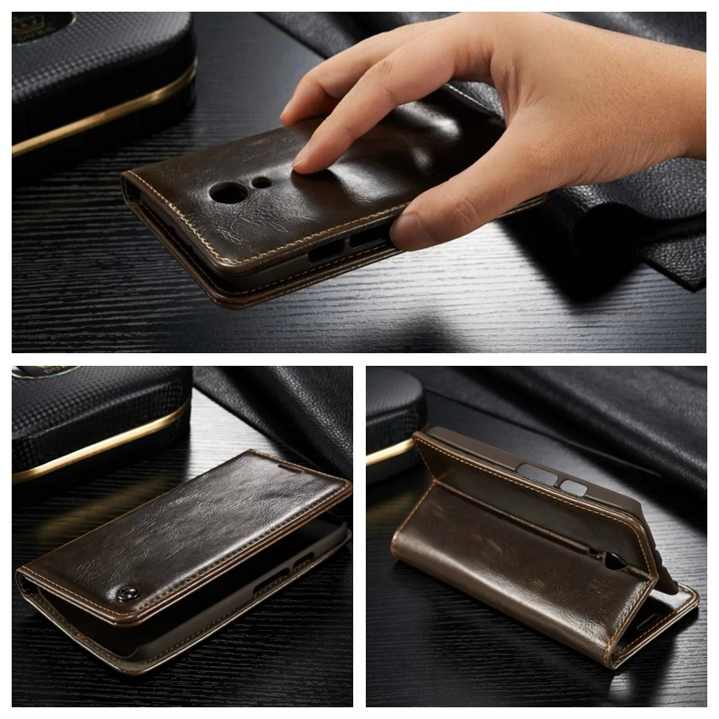 Vintage Magnet Ultra Thin Leather Capa Celular for Motorola G2 Case Shockproof PU Flip Wallet Stand