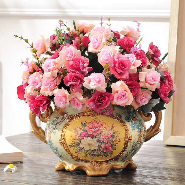 flower decoration flower vase set the living room table decoration ...