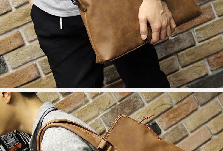 HTB1X8UsjqagSKJjy0Faq6z0dpXaH Brand Crazy horse pu leather men bags vintage business leather briefcase men's Briefcase men travel bags tote laptop bag man bag
