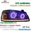 Hireno Modified Headlamp For Hyundai Elantra 2004 2010 Headlight Assembly Car Styling Angel Lens Beam HID