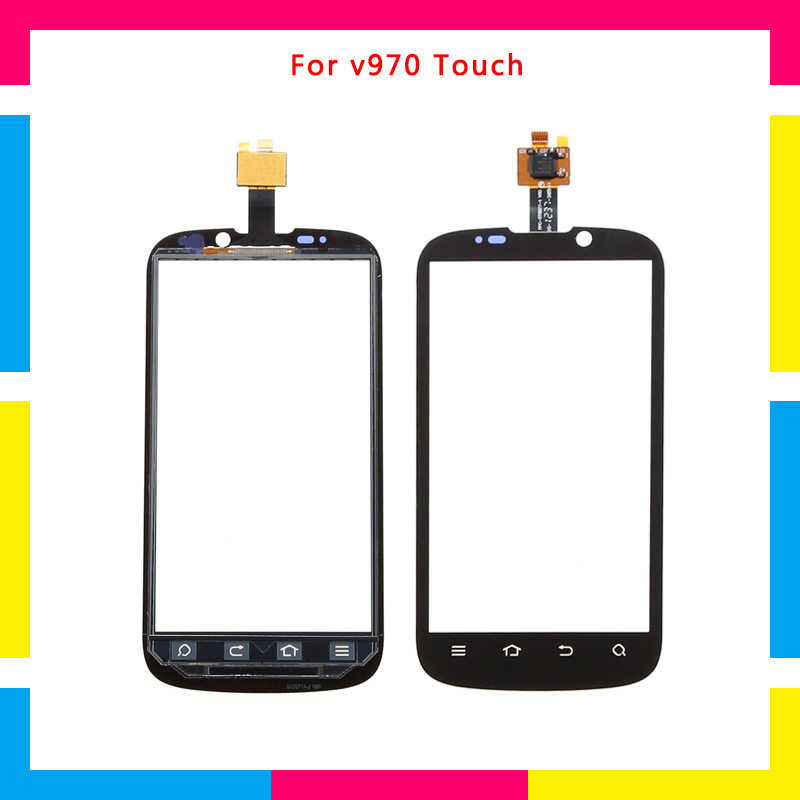Replacement high quality Touch Screen Digitizer Sensor Outer Glass Lens Panel For <font><b>ZTE</b></font> X3G V970 <font><b>V970M</b></font> image