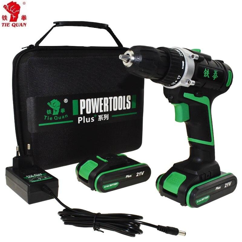 21 v outils électriques batterie perceuse électrique Perceuse Électrique Perceuse sans fil électrique de forage Tournevis Mini tournevis électrique