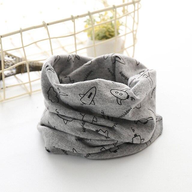 Корейский хлопковый детский шарф, снуд с рисунком, клетчатые шарфы с кольцами для девочек, зимний теплый снуд для мальчиков, детский снуд - Цвет: 12