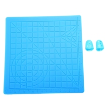 3D Pen Mat Silicone Design Kit With 2 Finger Caps, Printing Basic Template, Drawing Tools